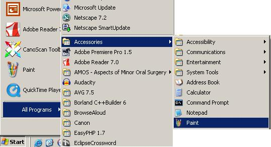 how to put programs into start menue